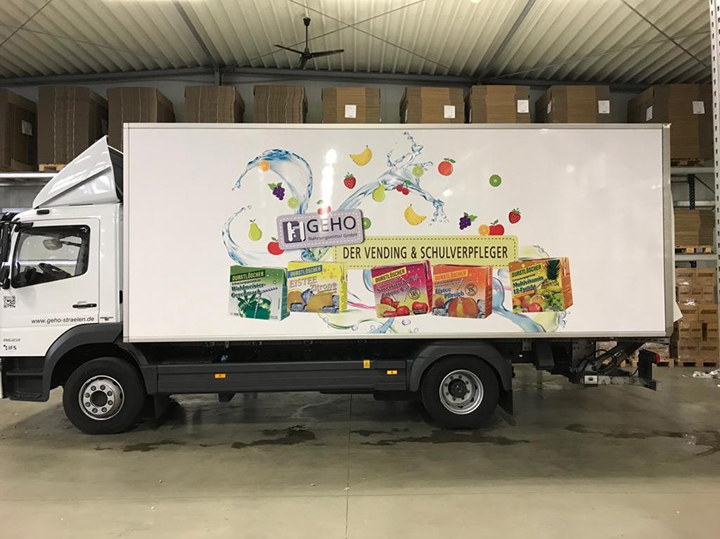 belettering durstloscher vrachtwagen
